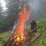 ... und verbrannt